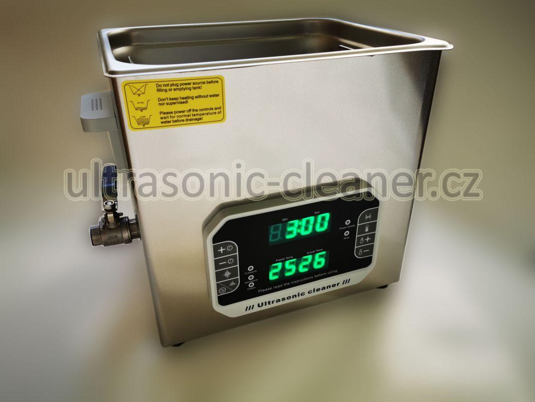 Ultrazvuková čistička PF-1000 se střídavou frekvencí 33,40 KHZ, vana 10 litru DKG