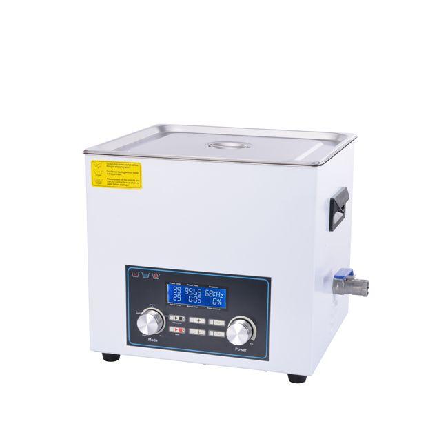 Inteligentní ultrazvuková čistička 410FTS s pamětí a High End LCD displejem, vana 10 litrů