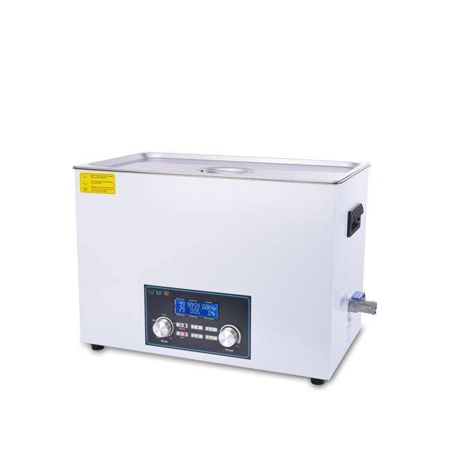 Inteligentní ultrazvuková čistička 822FTS s pamětí a High End LCD displejem, vana 22 litrů