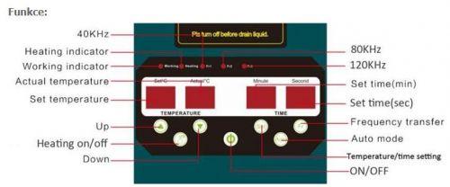 Panel třífrekvenčních čističek JYD-3000